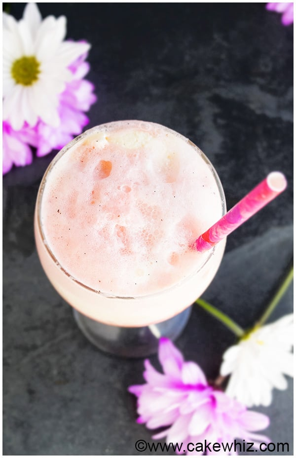 Rose Ice Cream Float Recipe 3