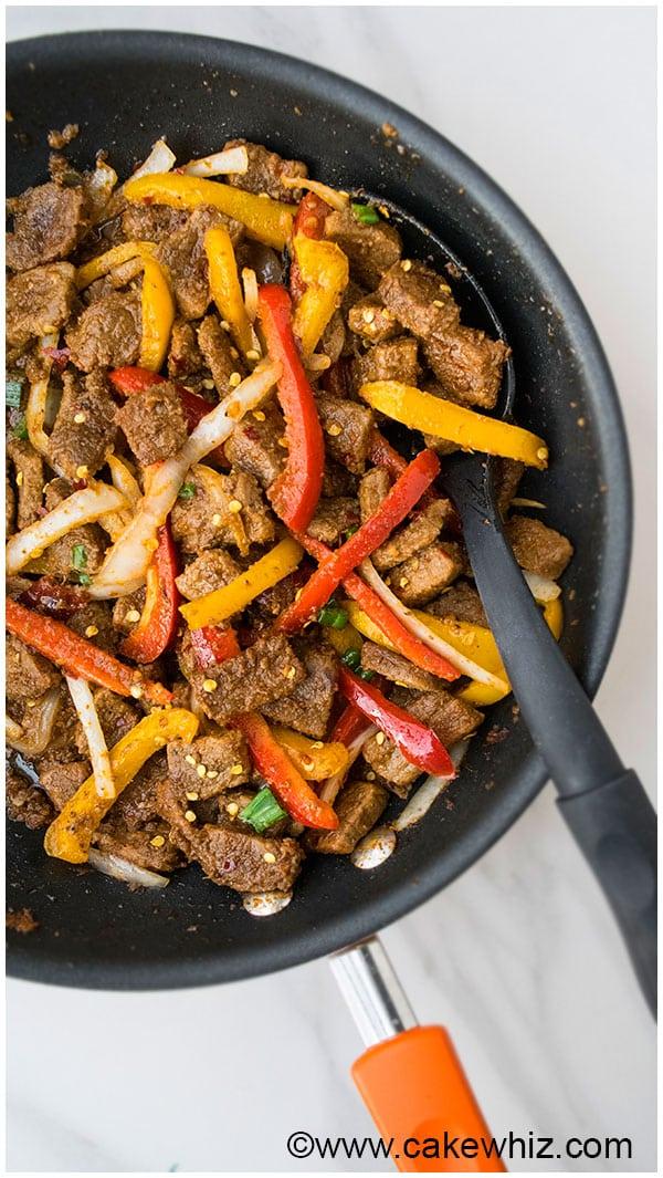 One Pan Spicy Beef Stir Fry Recipe 8