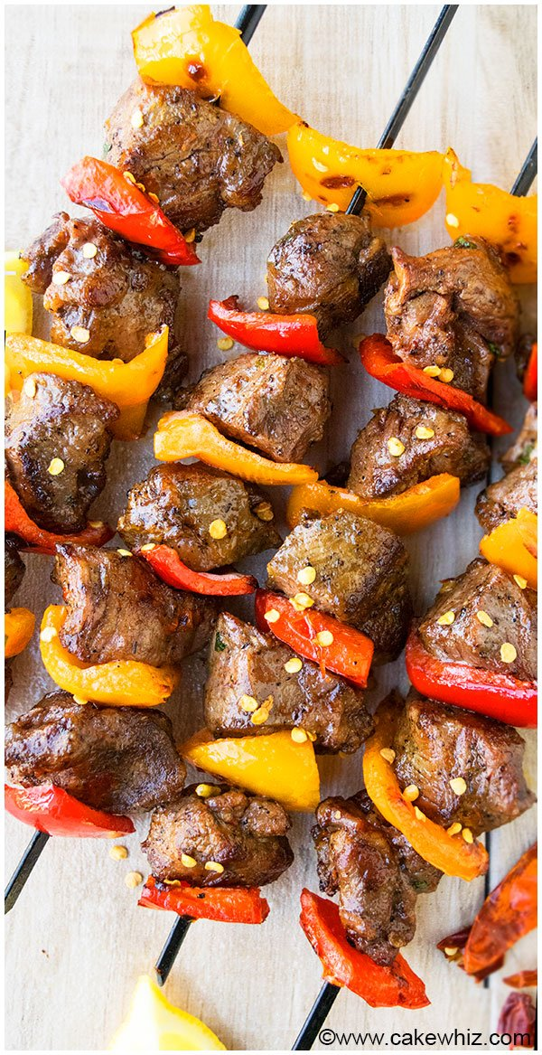 Easy Steak Kabobs or Steak Kebabs Recipe