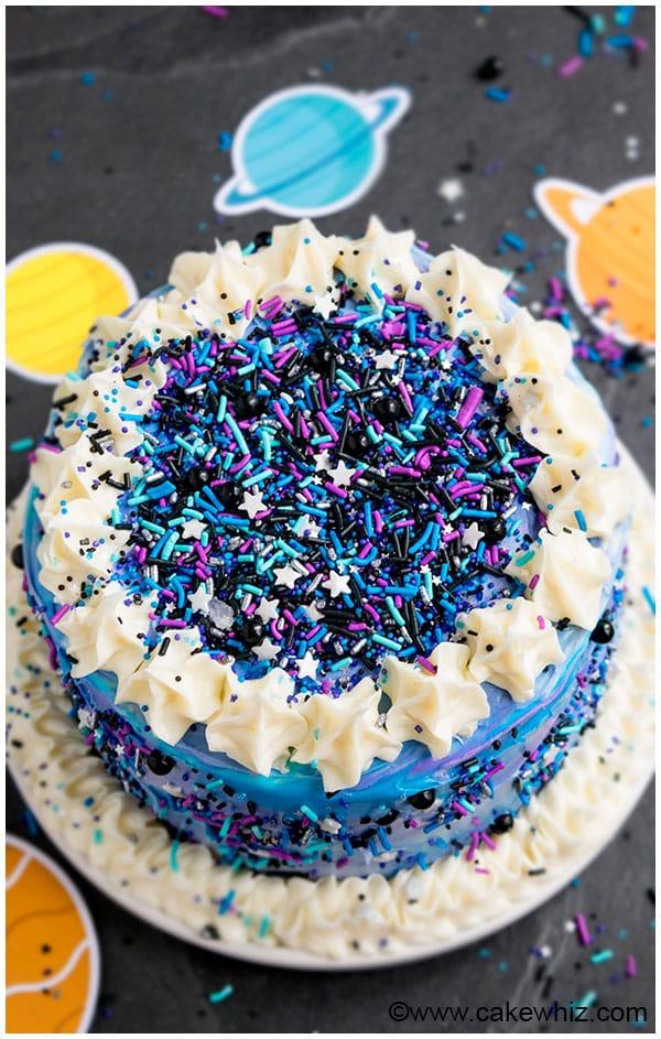 Galaxy Birthday Cake