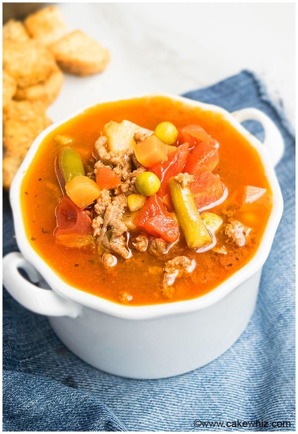 Hamburger Soup Recipe- Quick and Easy Dinner