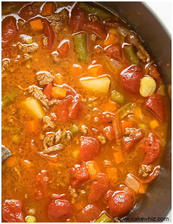 Hamburger Soup with Potatoes Recipe