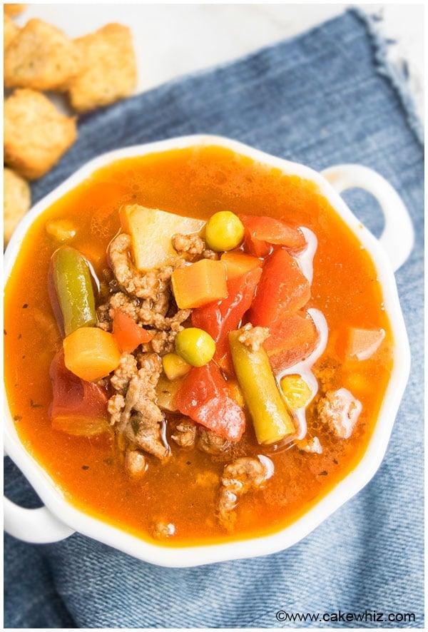 Vegetable Hamburger Soup Recipe