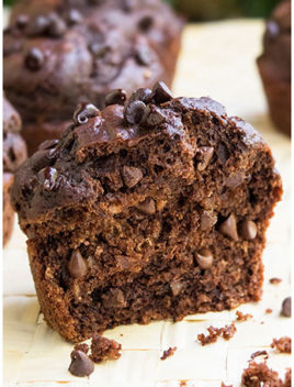 Easy Healthy Double Chocolate Muffins Recipe