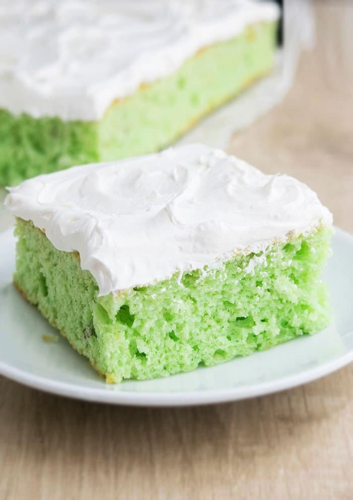 Cake Mix Pistachio Cake with Whipped Cream