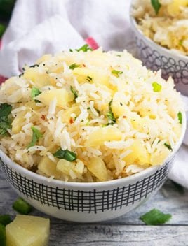 Jalapeno Pineapple Rice (One Pot Recipe)