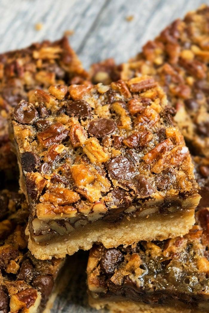 Pecan Pie Bars with Shortbread Crust Recipe