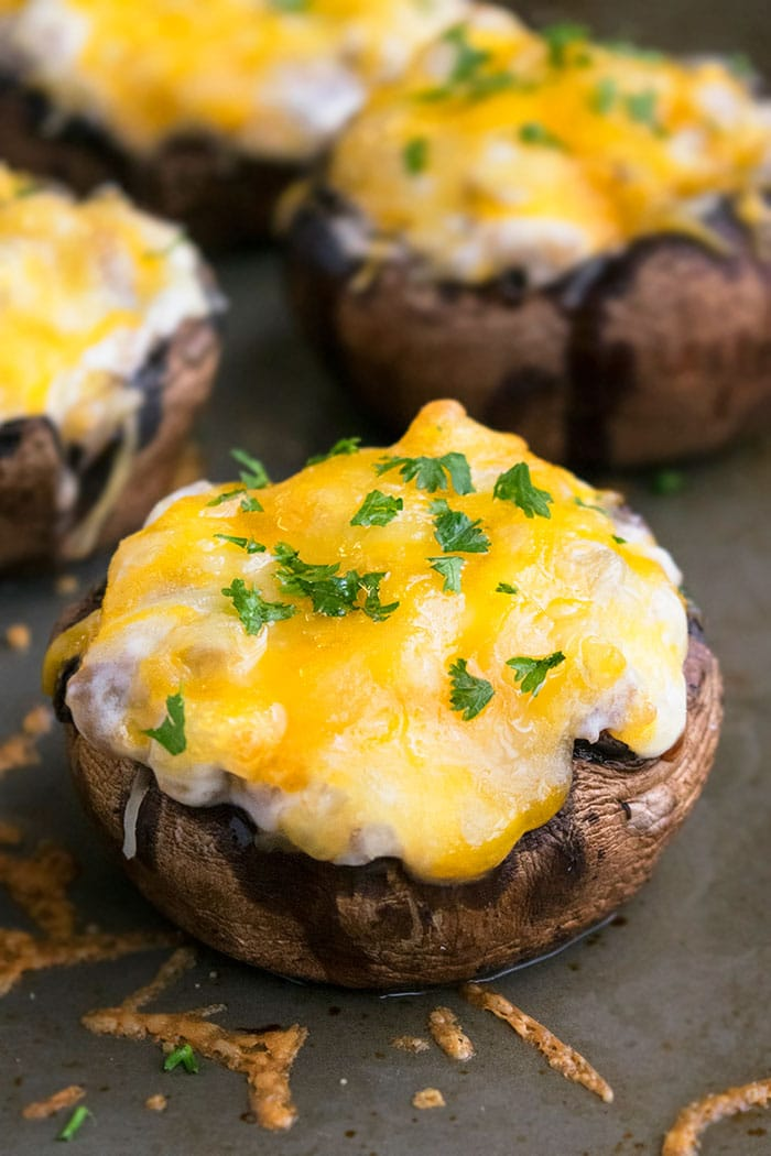 Quick and Easy Sausage Stuffed Mushrooms