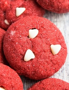 Easy Red Velvet Cookies Recipe With Cake Mix