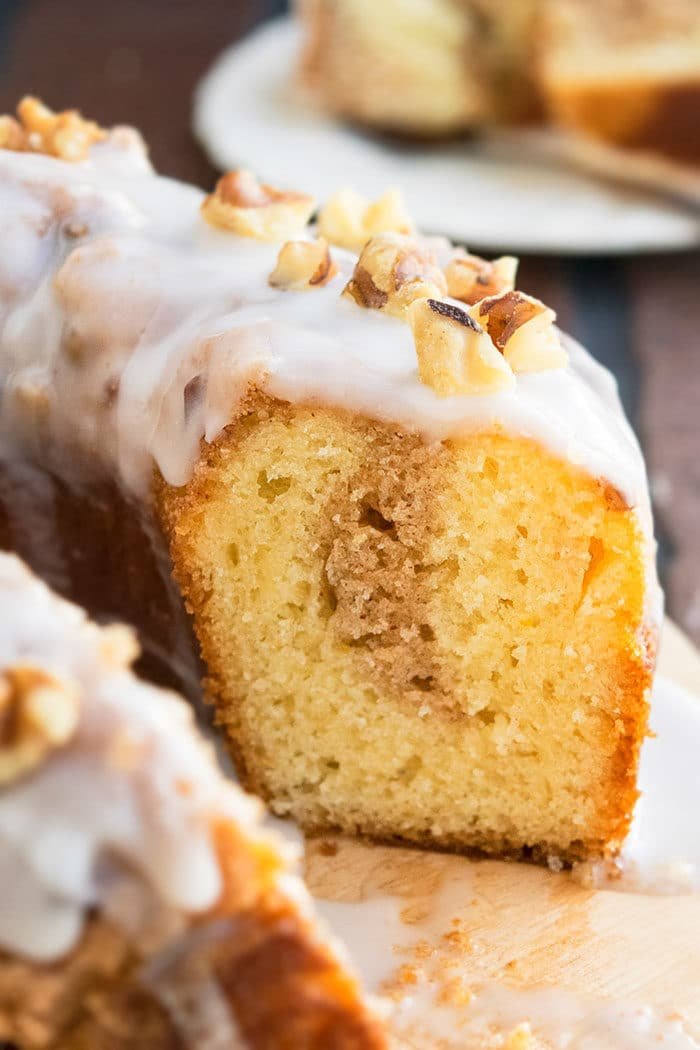 Easy Sock It To Me Cake With Vanilla Glaze