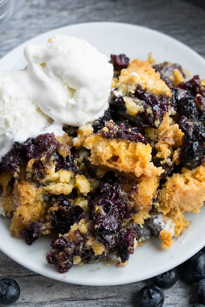 Easy Blueberry Dump Cake Recipe With Cake Mix