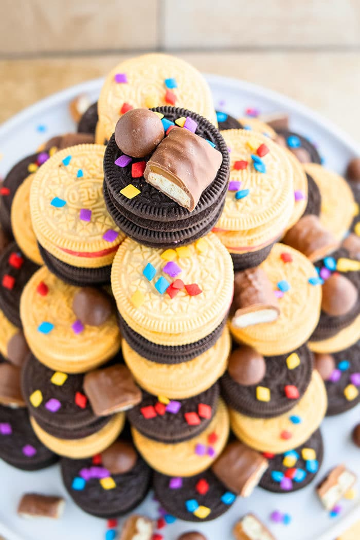Oreo Cookie Tower Cake