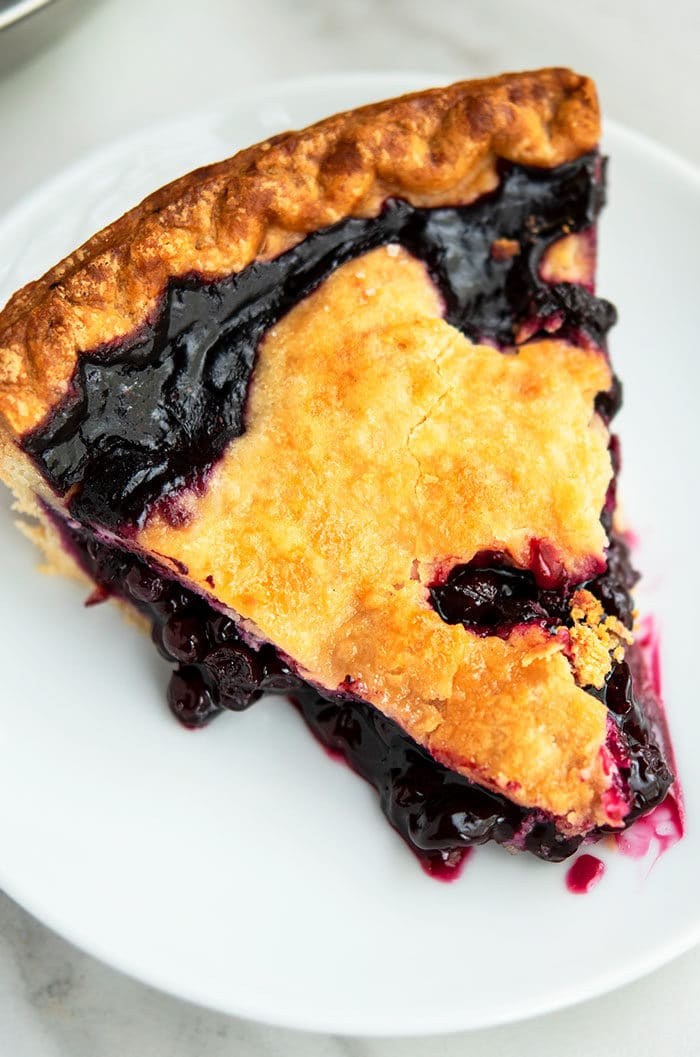 Homemade Blueberry Pie Slice