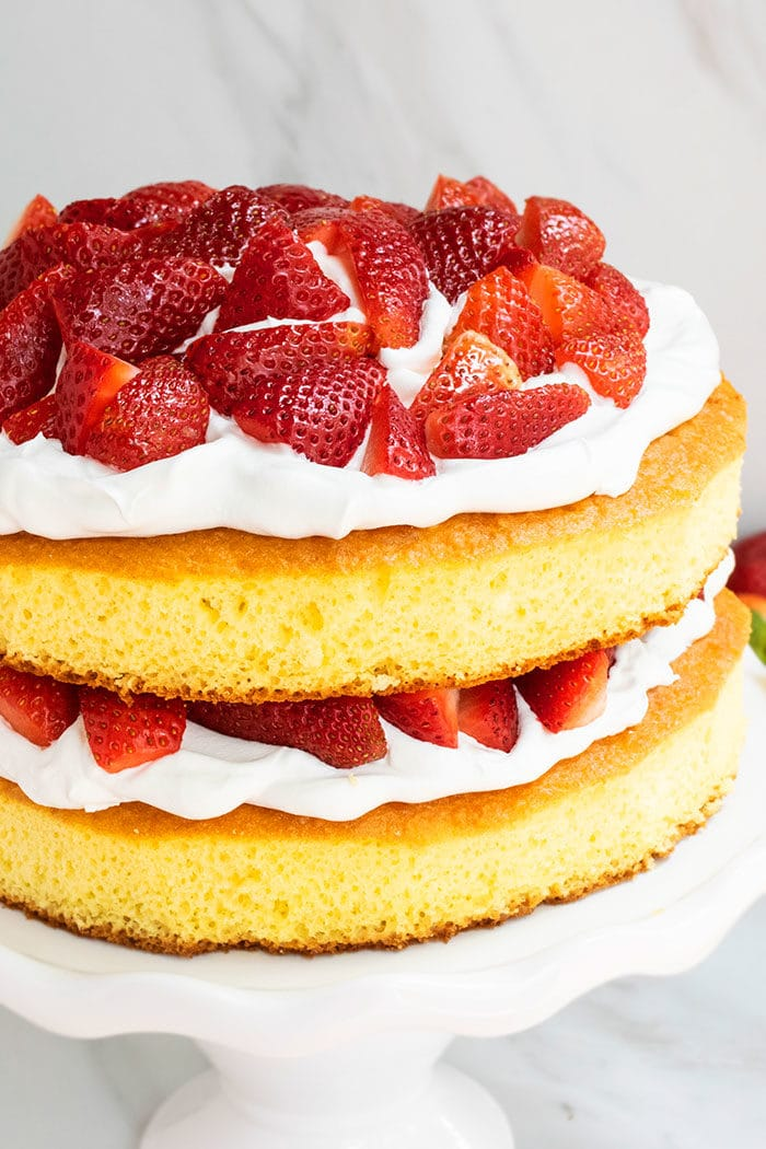 Homemade Strawberry Shortcake Cake From Scratch