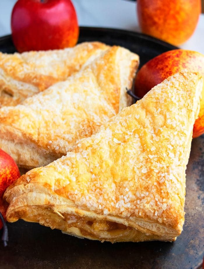 Homemade Puff Pastry Apple Turnovers