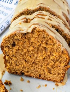 Easy Pumpkin Bread Recipe with Maple Glaze