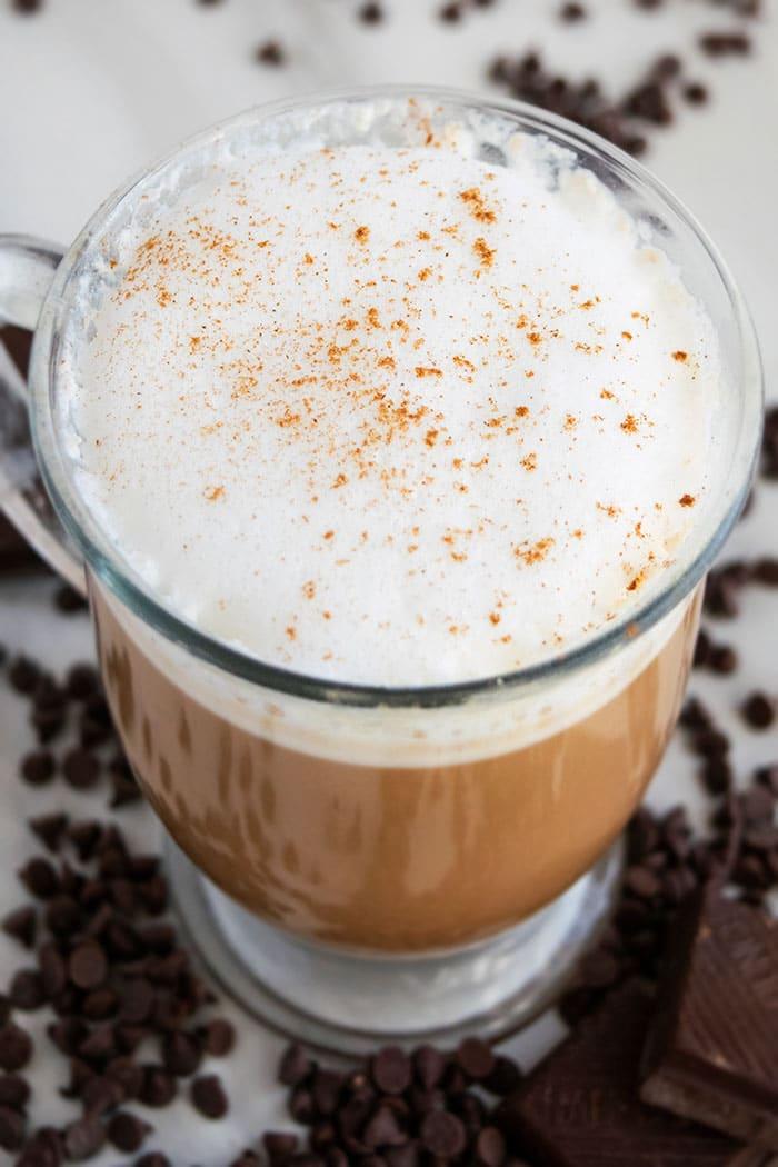 Easy Mocha Latte- Closeup
