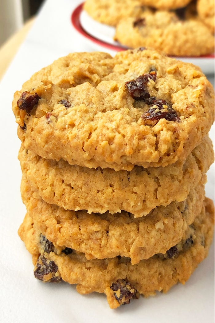 Stack of Best Oatmeal Raisin Cookies