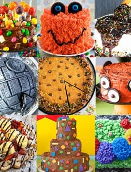 Collage of Easy Homemade Birthday Cake Ideas