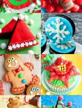 Collage Showing Many Christmas Food Ideas For Kids (Christmas Party Food)