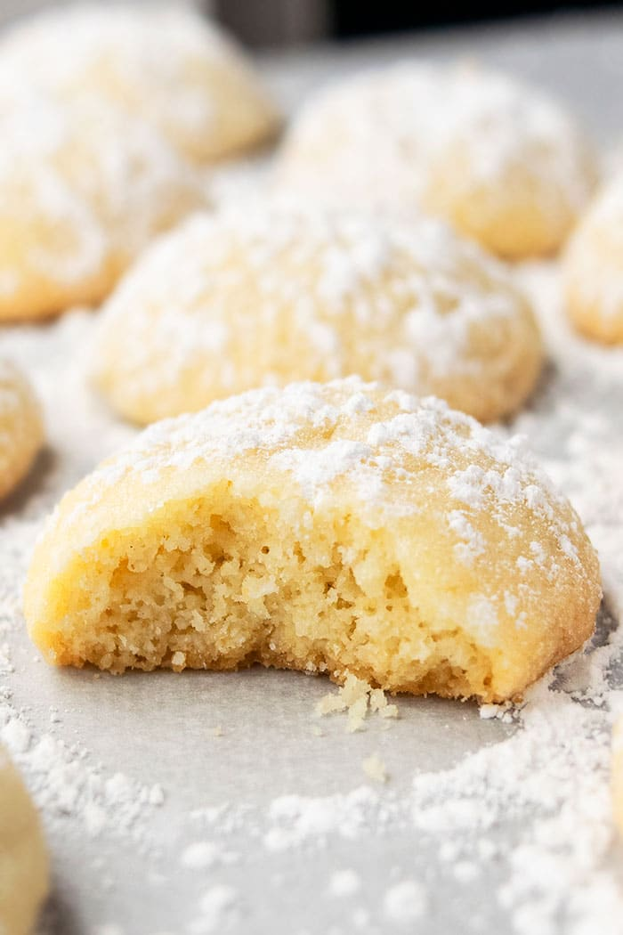 Soft Cream Cheese Sugar Cookies With Partial Bite Removed