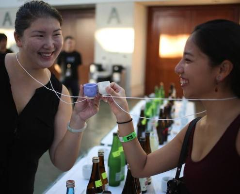 Reusable ceramic cups, Joy of Sake Honolulu 2016
