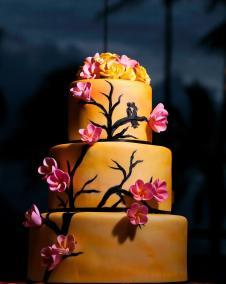 plumeria tree cake