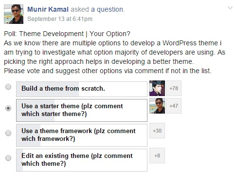 facebook-poll-wordpress-theme-development