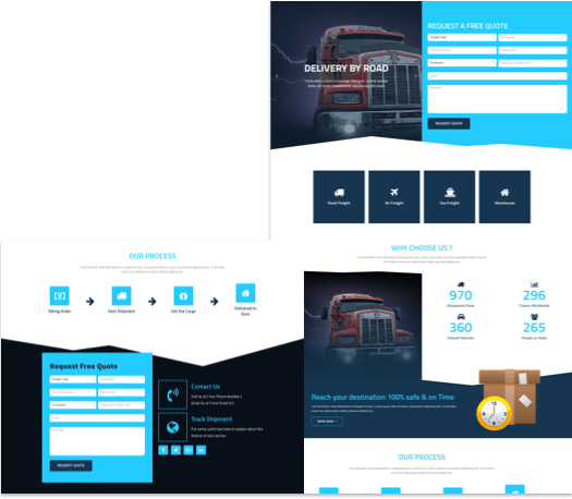 Free Landing Page Elementor Template for Logistics