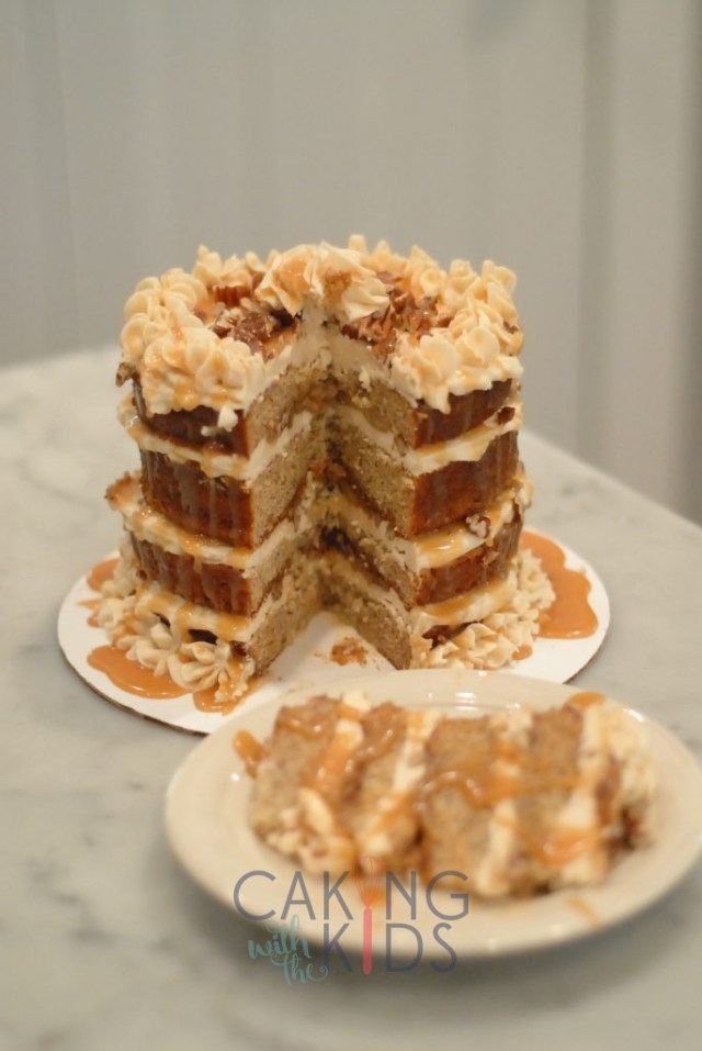 Banana Cake, Caramel Sauce, Delicious recipe, Homemade Banana Cake Recipe, Scratch Recipe