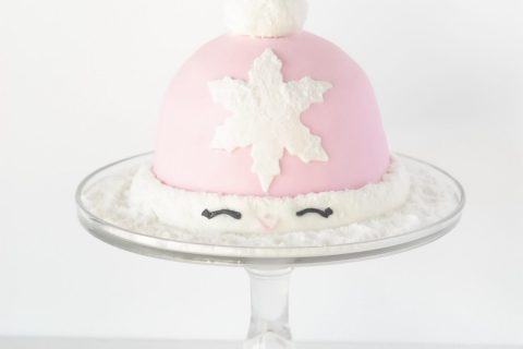 Winter Snow Hat Cake by Caking Kid 2