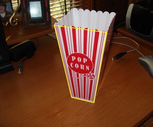 contoh trapesium, wadah popcorn