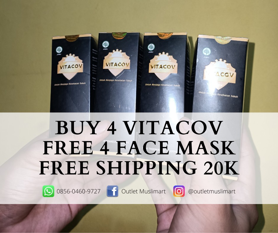 buy 4 vitacov free 4 face mask free shipping