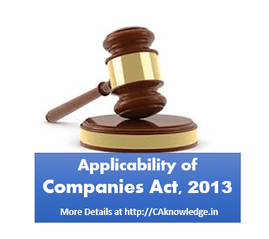 Applicability of Companies Act