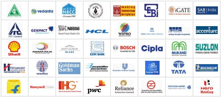 Some of the Companies who visited Institute for campus placement in the Recent Past