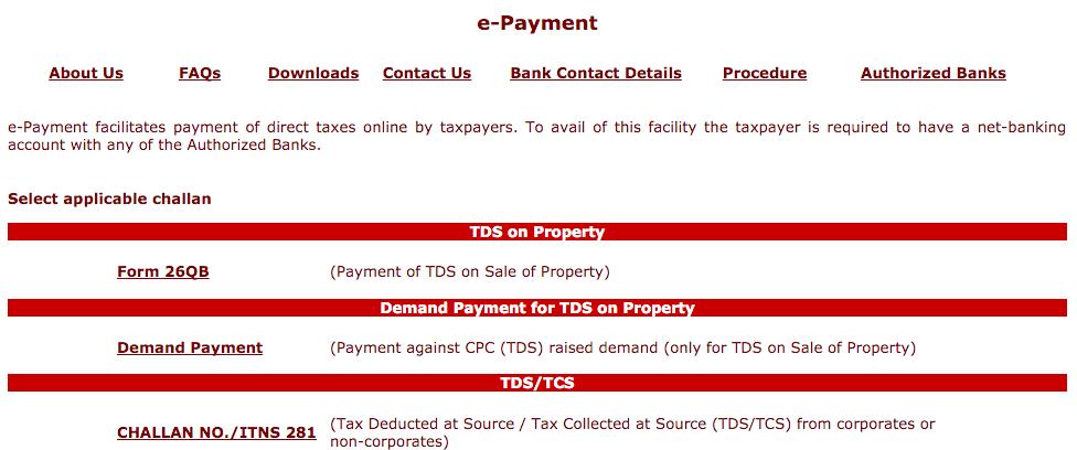 TDS on Property 26QB