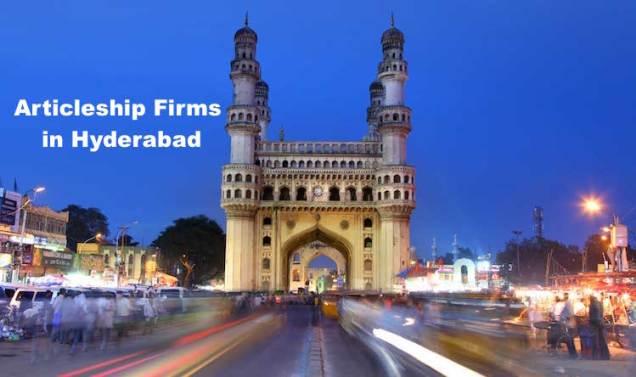 CA Articleship Firms Hyderabad