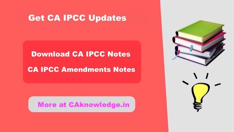 CA IPCC Notes