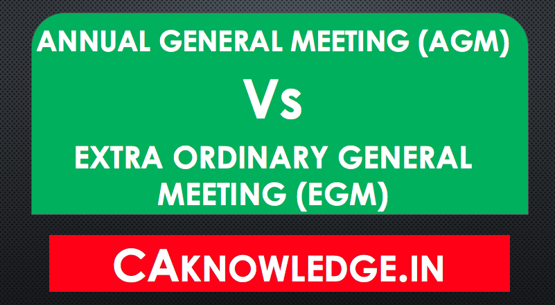 Difference Between AGM and EGM