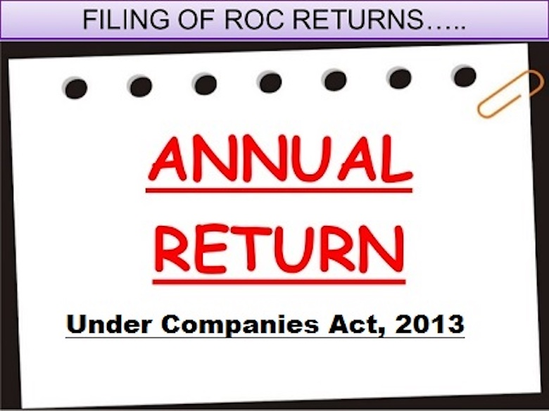 Compliances of Annual Return under Companies Act