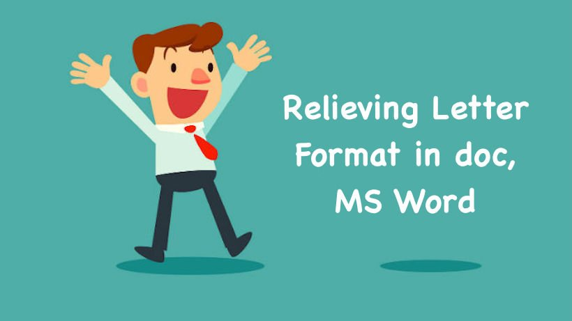 Relieving Letter Format Format Of Relieving Letter In Doc Ms Word