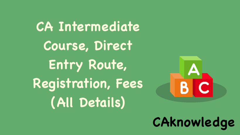 CA Intermediate Course