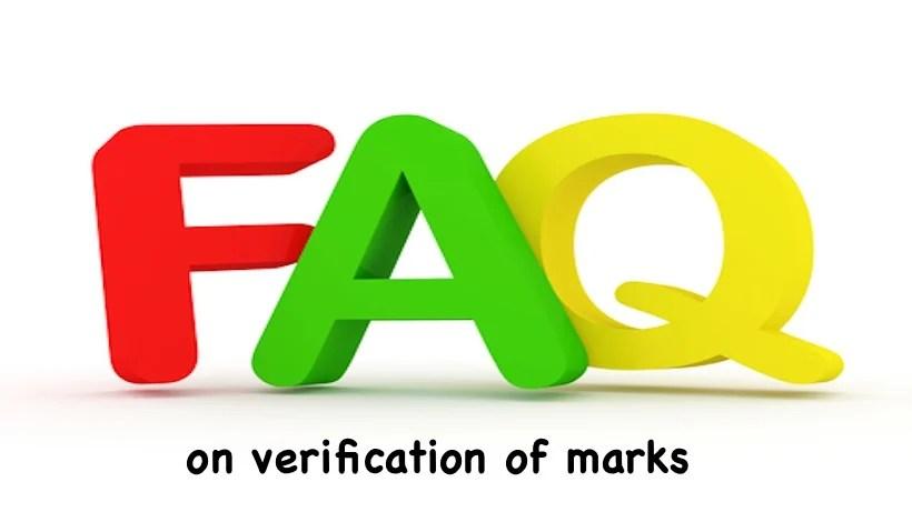 FAQ on verification of marks