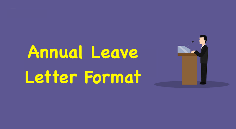 annual leave letter format annual leave application format in word