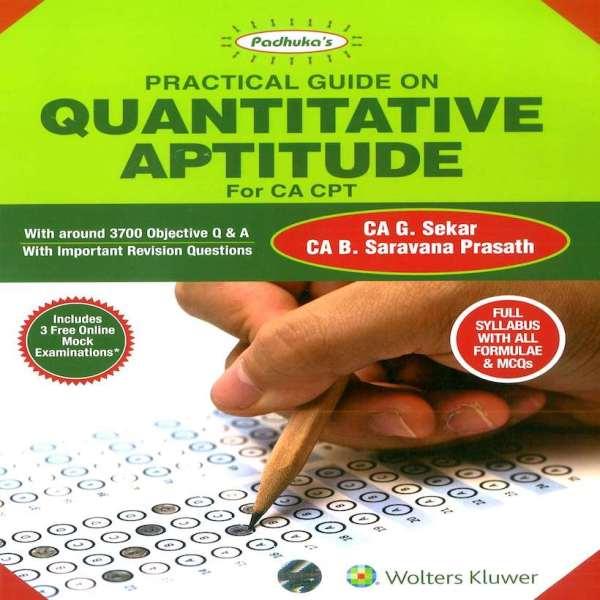 CA CPT Quantitative Aptitude by G Sekar