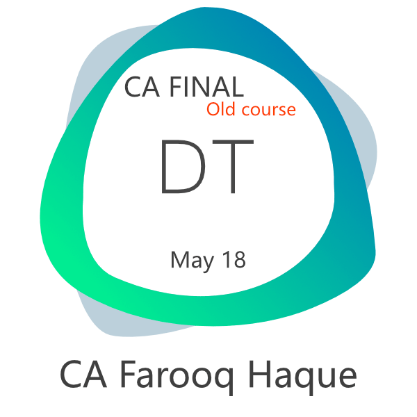 CA Final Direct Tax Video Lectures Farooq