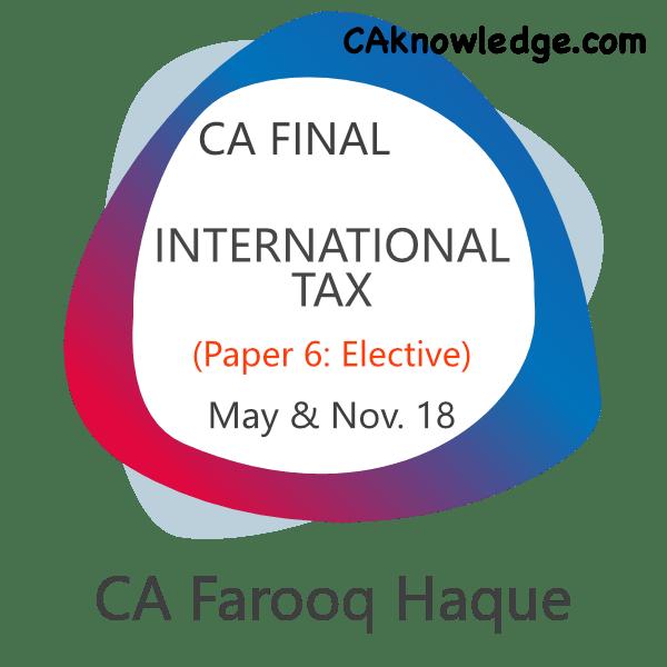 CA Final International Tax Video Classes