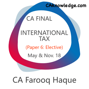 CA Final International Tax Video Classes