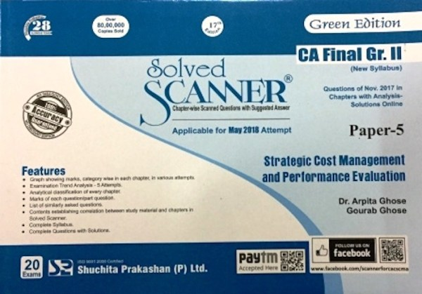 CA Final SCM and PE Scanner by Arpita Ghose