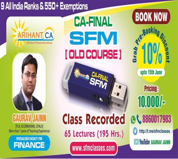 CA Final SFM Pen Drive Classes by CA Gaurav Jainn o